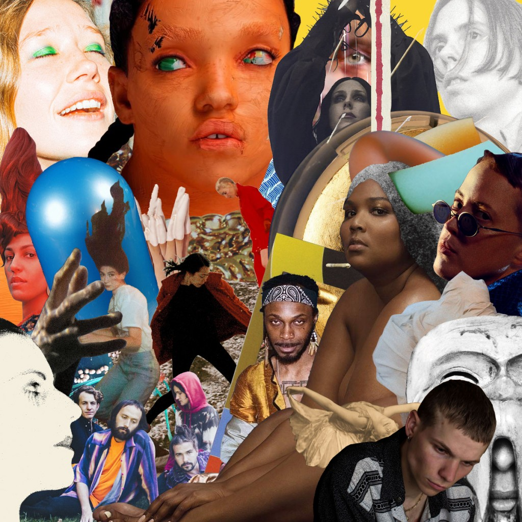 Best albums of the year 2019 - Playlist and collage by GooMorninCaptn, feat. Sasami - Sasami, Matmos - Plastic Anniversary, Hand Habits - Placeholder, Cate Le Bon - Reward, FKA Twigs - Magdalene, Kim Gordon - No Home Record, Vanishing Twin - The Age Of Immunology, Holly Herndon - Proto, Lizzo - Cuz I Love You, Susanna & The Brotherhood Of Our Lady - Garden of Earthly Delights, Big Thief - U.F.O.F., Lafawndah - Ancestor Boy, Jungstötter - Love Is, Anna Meredith - FIBS, Christopher Tignor - A Light Below, Grey McMurray - Stay Up, Julia Jacklin - Crushing, Leafcutter John - Yes! Come Parade With Us, Weyes Blood - Titanic Rising, Jesca Hoop - Stonechild, JPEGMAFIA - All My Heroes Are Cornballs, Bon Iver - i,i, Chelsea Wolfe - Birth of Violence, Glen Hansard - This Wild Willing, The Murder Capital - When I Have Fears, Lower Dens - The Competition, La Féline - Vie future, Lingua Ignota - Caligula, Oiseaux-Tempête - From Somewhere Invisible, Clipping. - There Existed An Addiction To Blood